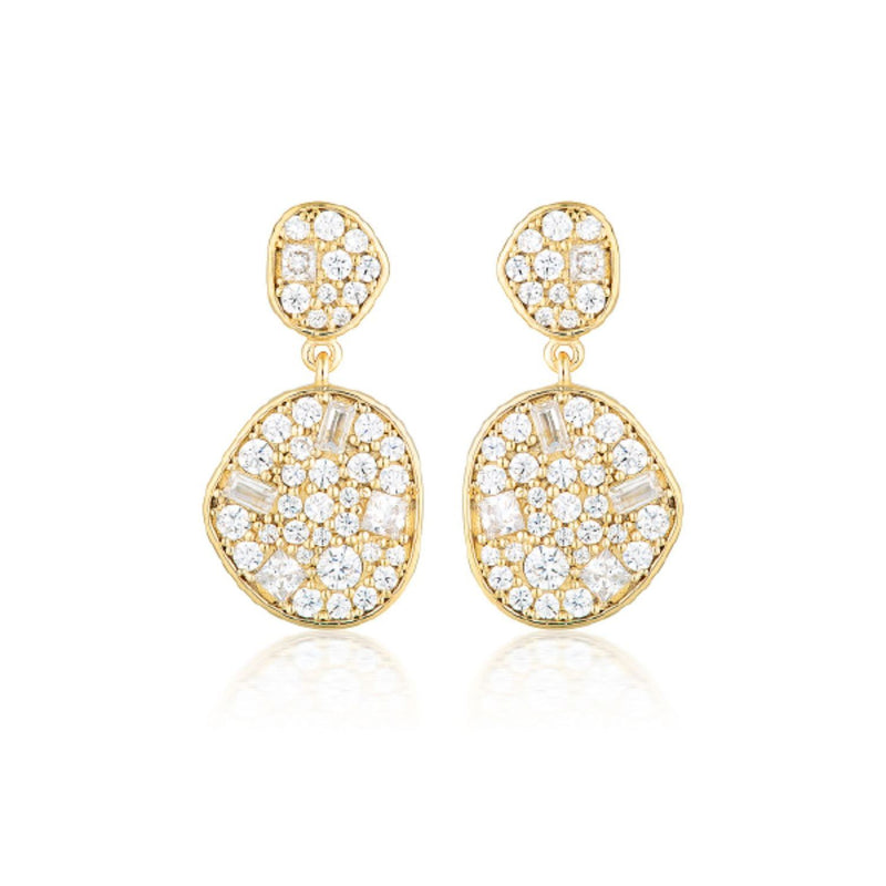 Georgini Anna Mosiac Gold Drop earrings