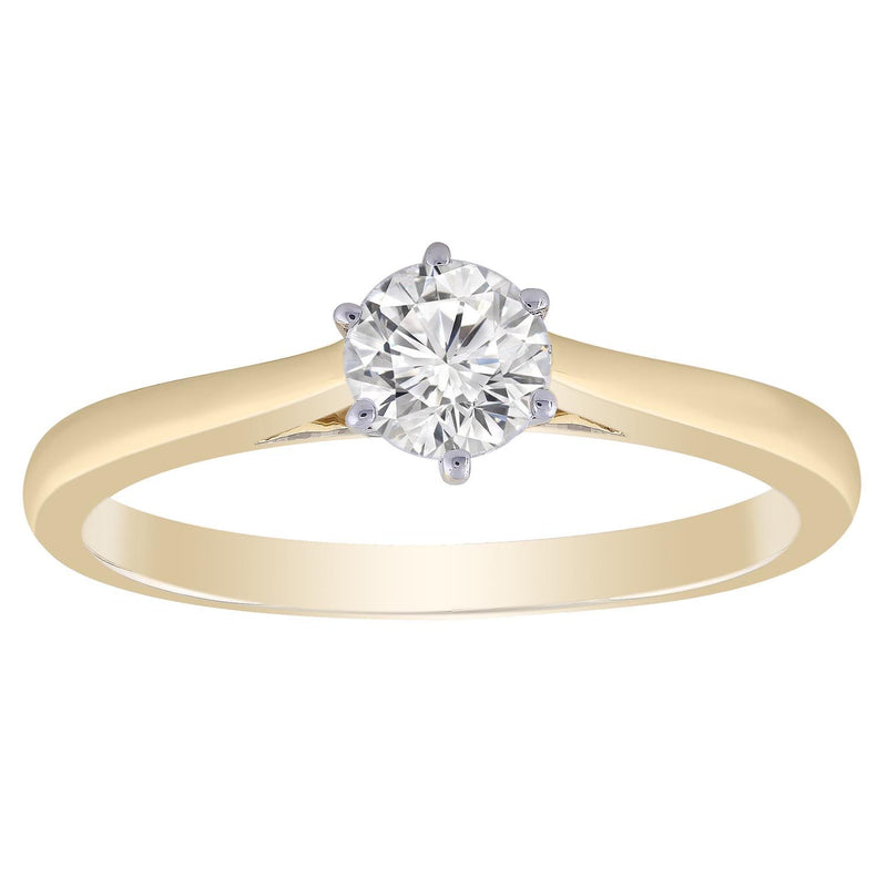 9ct Yellow Gold 0.50ct Solitaire Diamond Ring