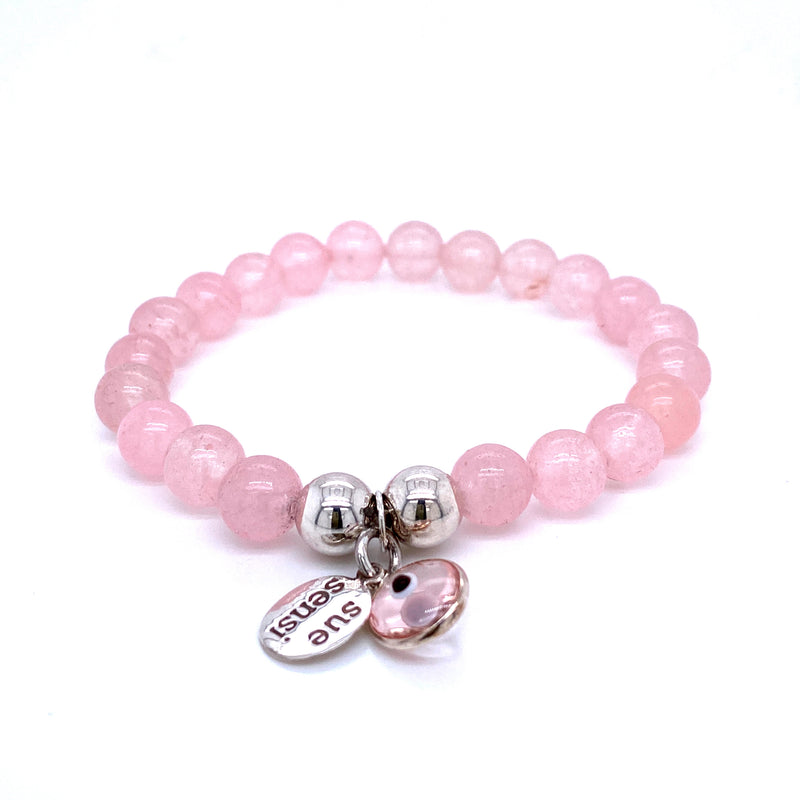 Sue Sensi Rose Quartz Friendship Bracelet