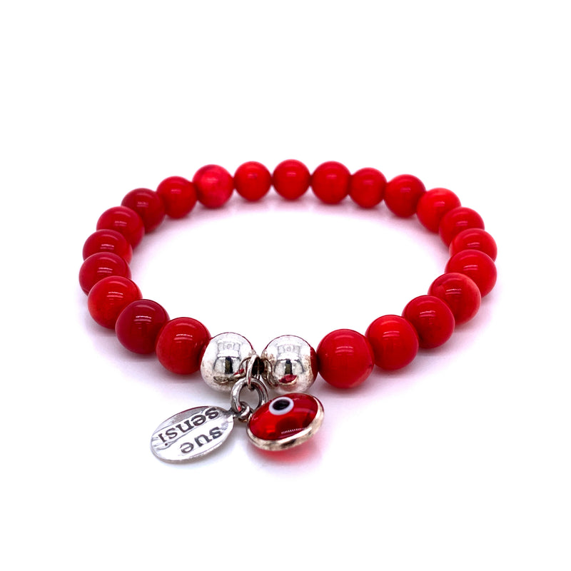 Sue Sensi Red Coral Friendship Bracelet