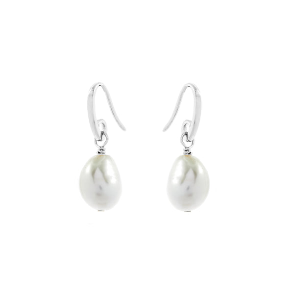 Sterling Silver Fresh Water Pearl Drop Earrings