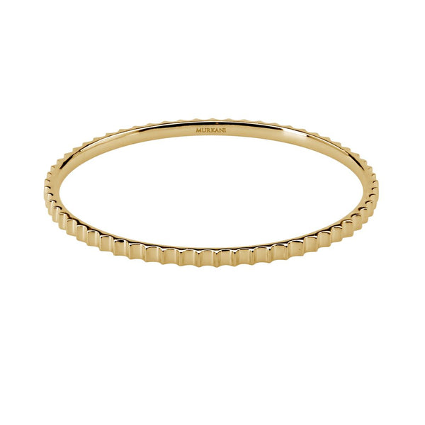 Murkani Fluted Bangle 18kt Yellow Gold Plate