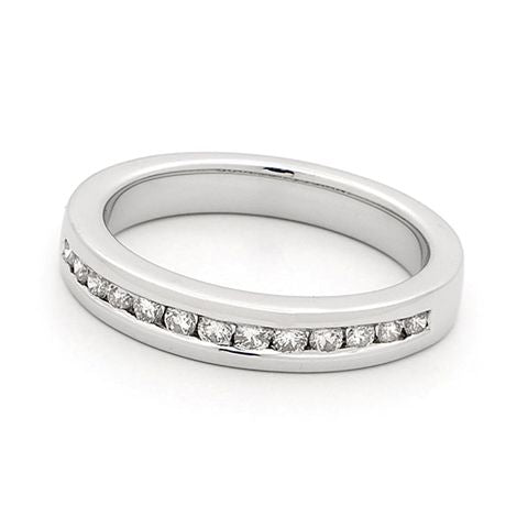 18ct White Gold Channel Set Diamond Ring 0.28ct