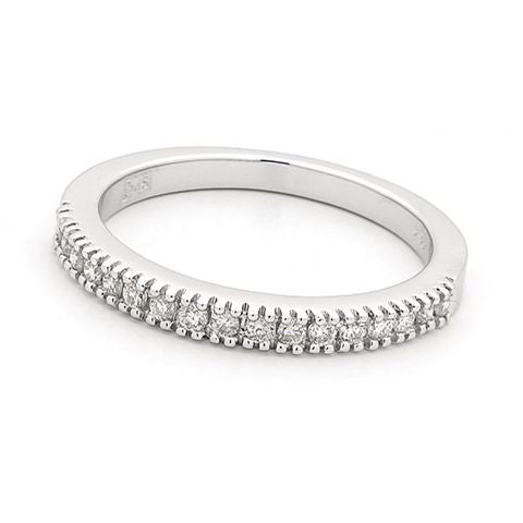 18ct White Gold Claw Set Diamond Ring 0.25ct