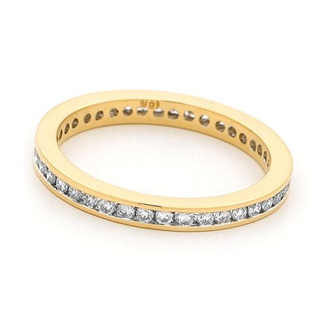 18ct Yellow Gold Channel Set Diamond Ring 0.50ct