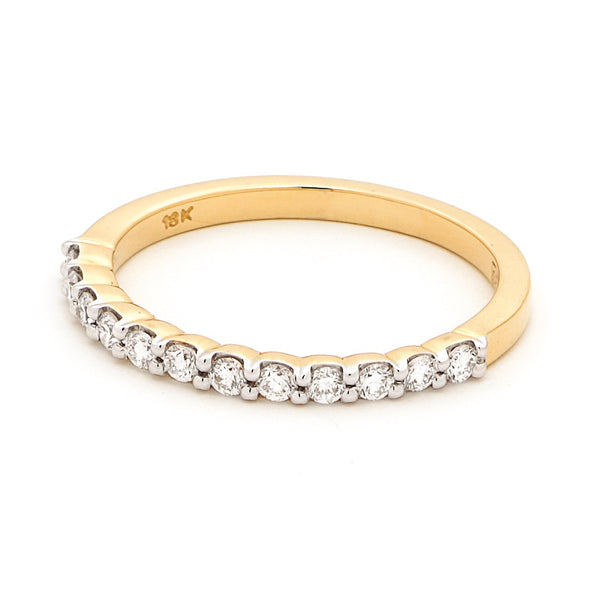 18ct Yellow Gold Claw Set Diamond Ring 0.27ct