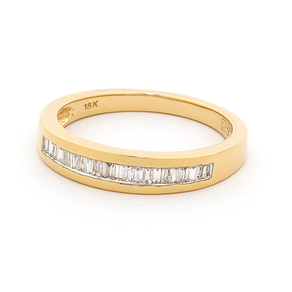 18ct Yellow Gold Channel Set Diamond Ring 0.23ct