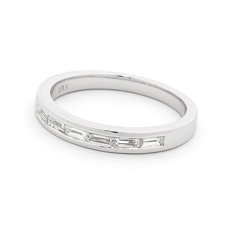 18ct White Gold Channel Set Diamond Ring 0.36ct