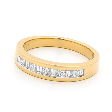 18ct Yellow Gold Channel Set Diamond Ring 0.48ct