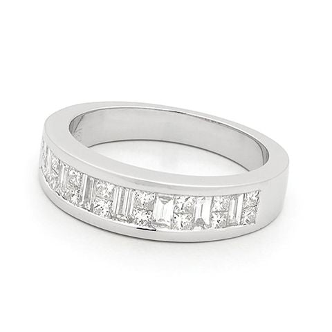 18ct White Gold Channel Set Diamond Ring 0.80ct