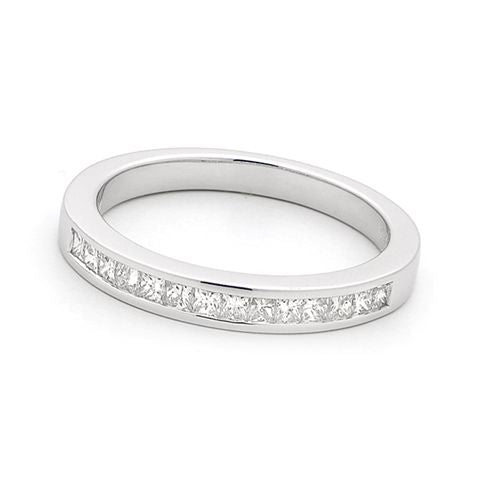 18ct White Gold Channel Set Diamond Ring 0.40ct