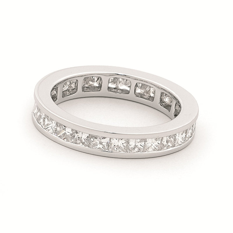 18ct White Gold Channel Set Diamond Ring 1.14ct