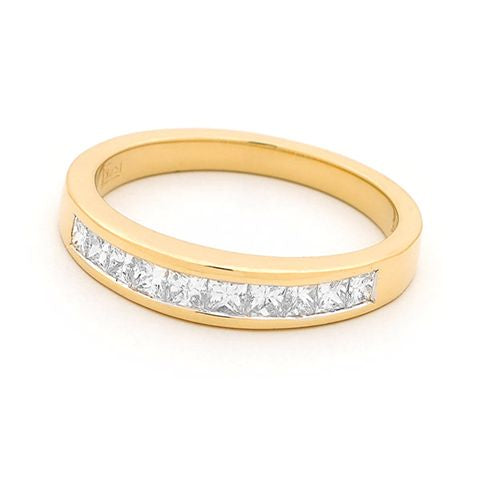 18ct Yellow Gold Channel Set Diamond Ring 0.52ct