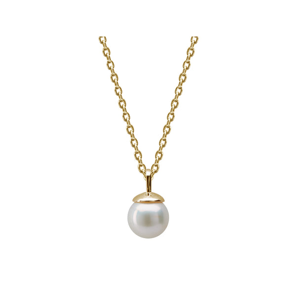Murkani Pearl Necklace In 18 KT Yellow Gold Plate