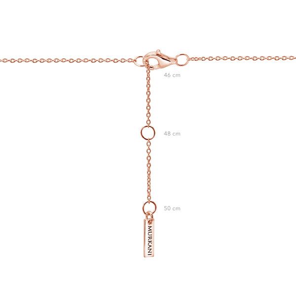 Murkani Compass Necklace with White Topaz- Rose Gold