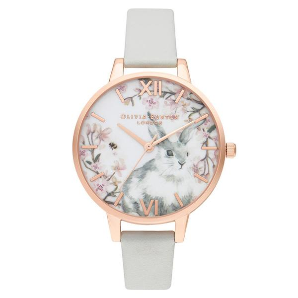 Olivia Burton Bunny Demi Vegan Grey & Rose Ladies Watch