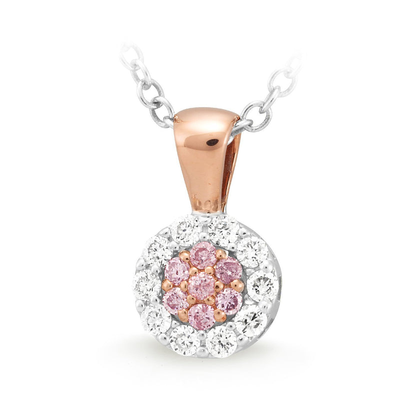 PINK CAVIAR 0.15ct Pink Diamond Pendant in 9ct Rose Gold
