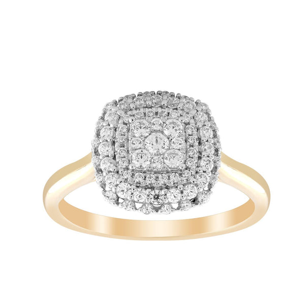 0.50ct Diamond Cluster Dress Ring