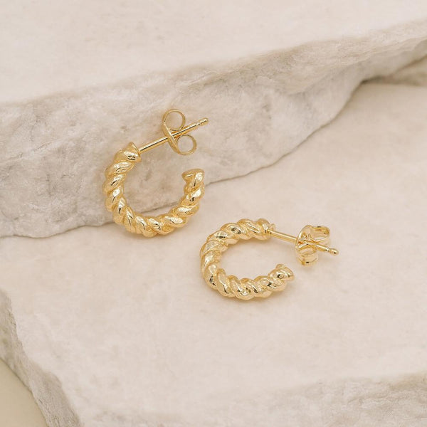 By Charlotte Gold Divine Fate Small Hoops