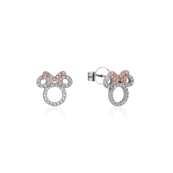 Disney Precious Metal Minnie Mouse Crystal Outline Stud Earrings