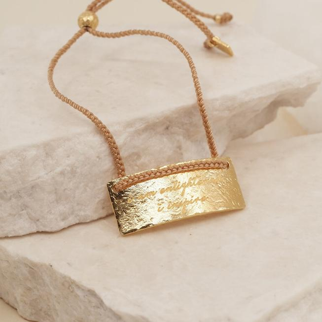 By Charlotte Gold Sagittarius Cord Bracelet