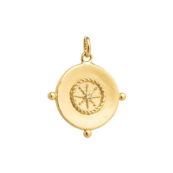 Sail Away Coin 18k gold plated