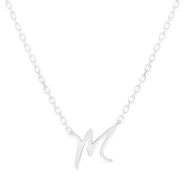 By Charlotte Silver Love Letter Necklace- M