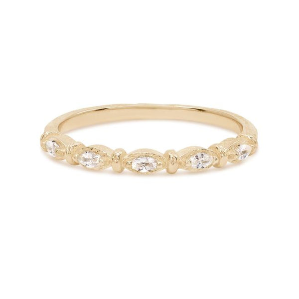 By Charlotte Gold Stars Align Ring