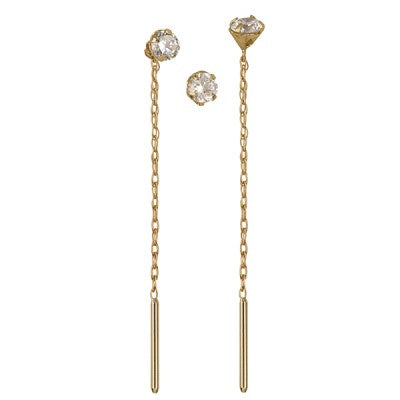 9ct Thread Cz Earrings