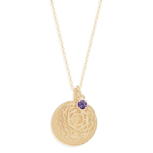By Charlotte Gold I Am Divinely Grounded, Crown Chakra Necklace