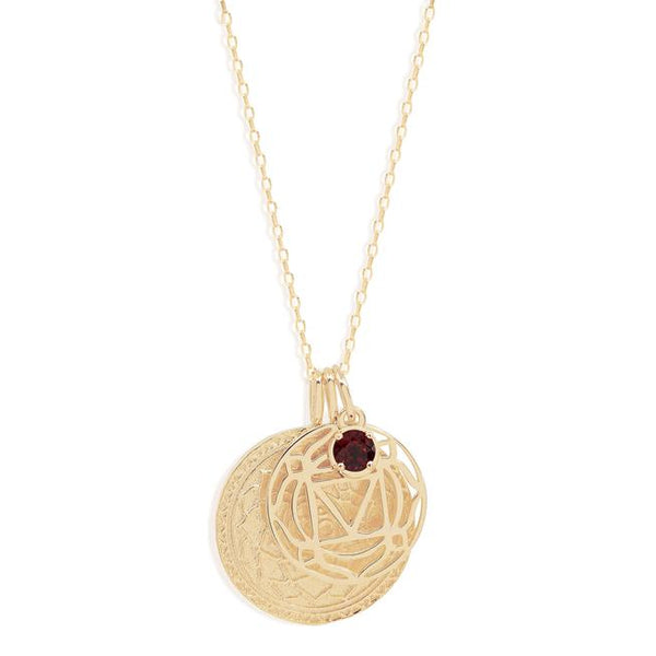 By Charlotte Gold I Am Present, Root Chakra Necklace