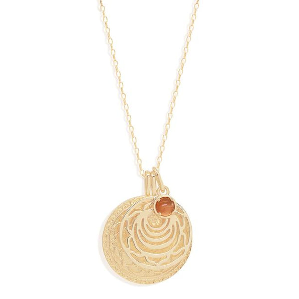 By Charlotte Gold I Am Present, Sacral Chakra Necklace