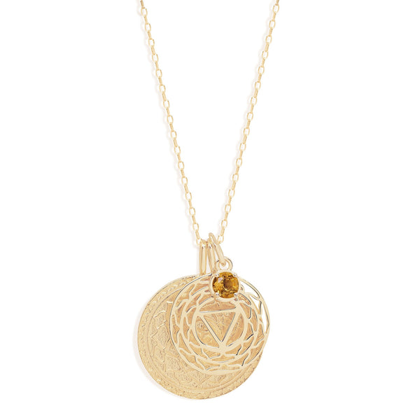 By Charlotte Gold I Am Present, Solar Plexus Necklace