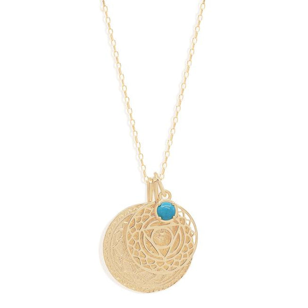 By Charlotte Gold I Give Voice To My Inner Wisdom, Throat Chakra Necklace
