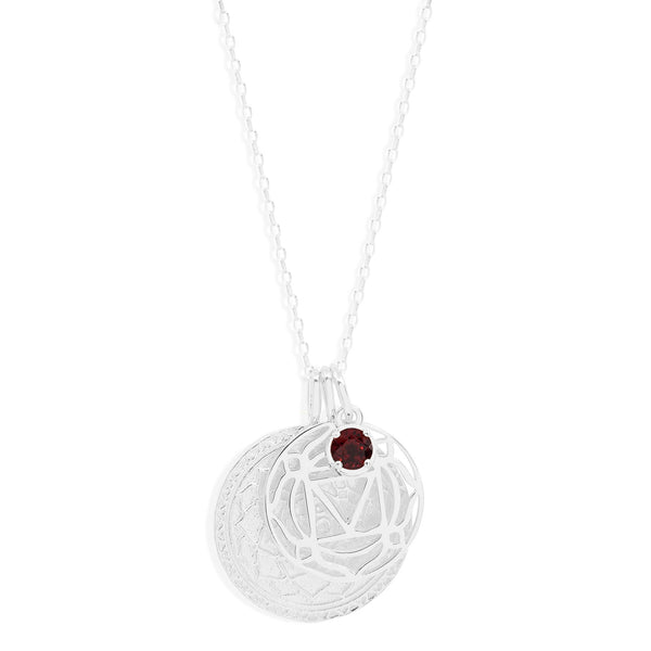 By Charlotte Silver I Am Present, Root Chakra Necklace