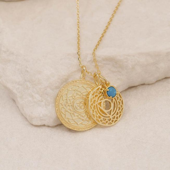 By Charlotte Silver I Give Voice To My Inner Wisdom, Throat Chakra Necklace