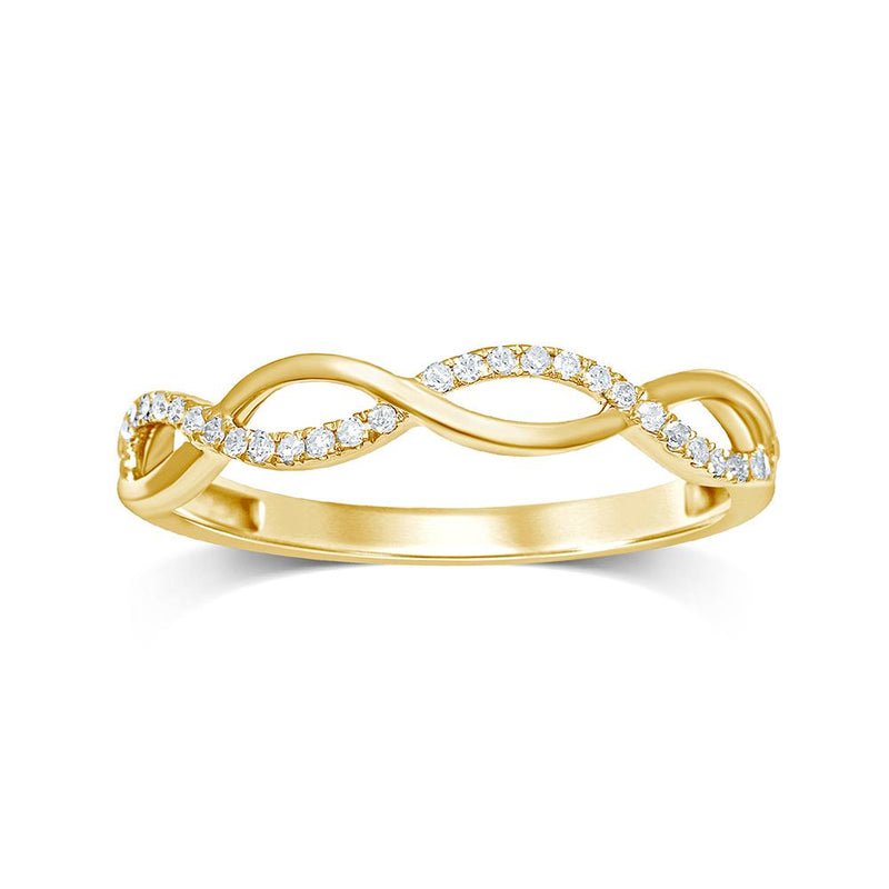 9ct Gold 0.09Ct Diamond Ring