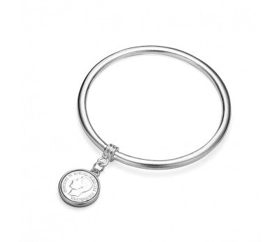 Stainless Steel Coin Bangle
