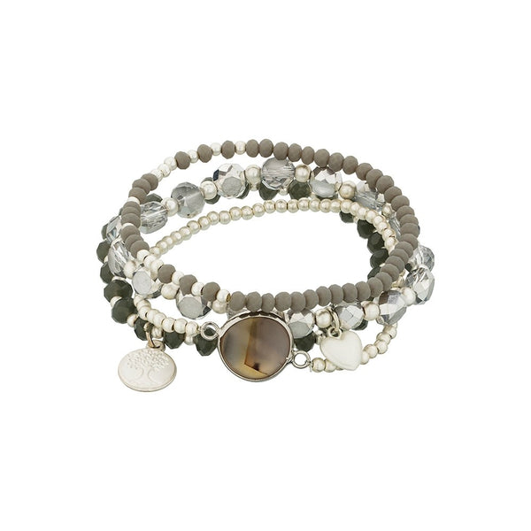 Stainless Steel Fashion Beaded Bracelet