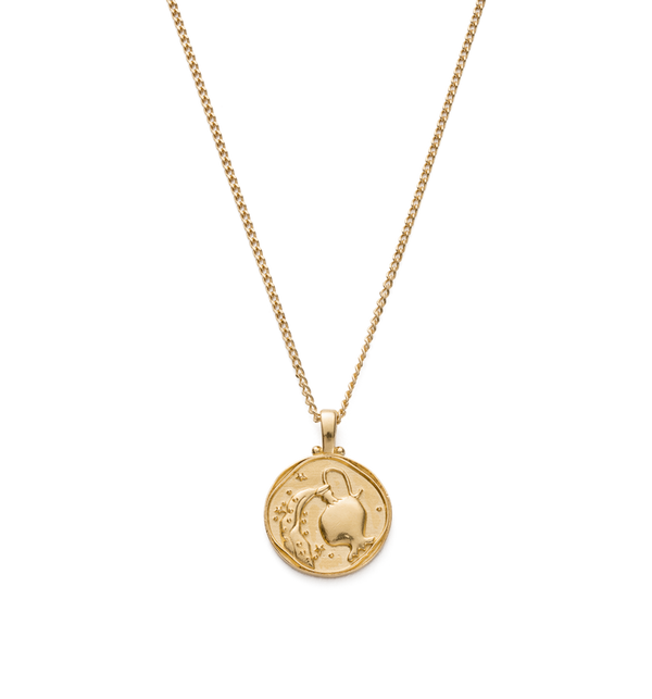 Kirstin Ash Aquarius Zodiac Necklace- 18k gold vermeil