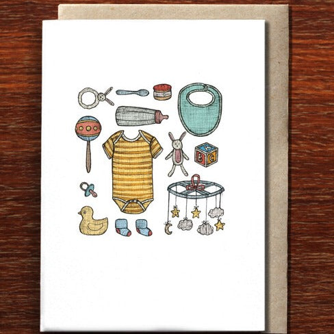 The Nonsense Maker Baby Keepsakes - Greeting Card