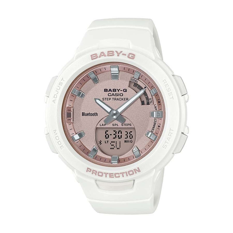 Baby-G Step Tracker Rose and White Watch