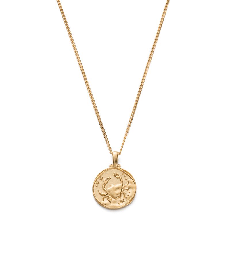 Kirstin Ash Cancer Zodiac Necklace- 18k gold vermeil