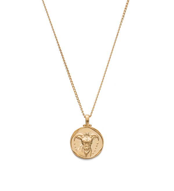 Kirstin Ash Capricorn Zodiac Necklace- 18k gold vemeil