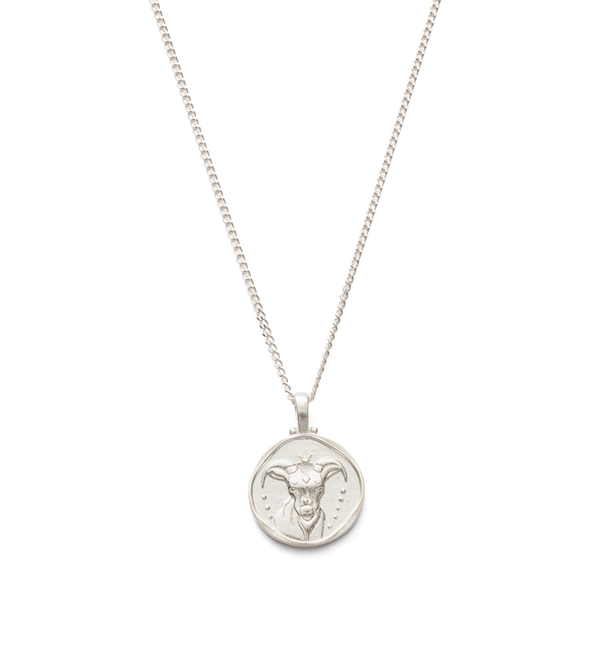 Kirstin Ash Capricorn Zodiac Necklace- Sterling Silver