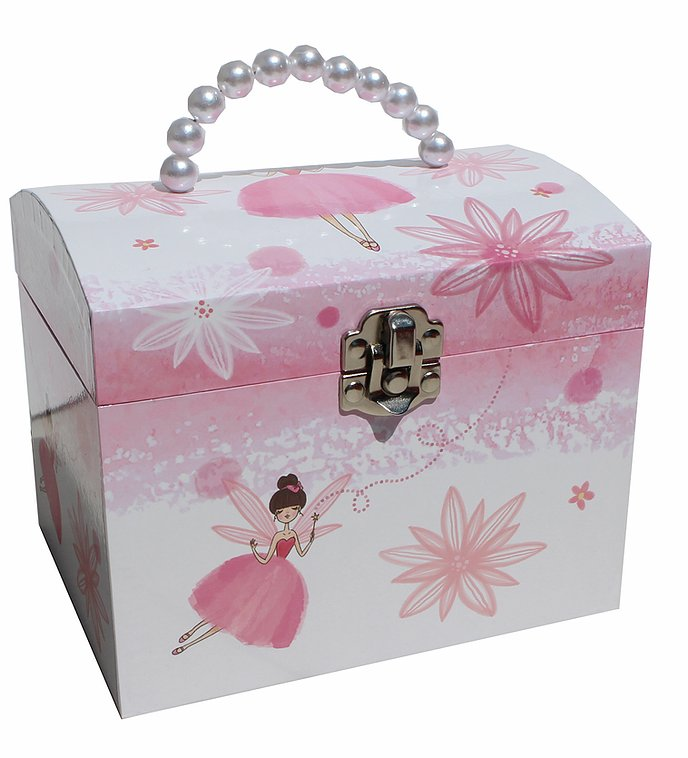 Fairy Pearl Handle Musical Jewellery Box