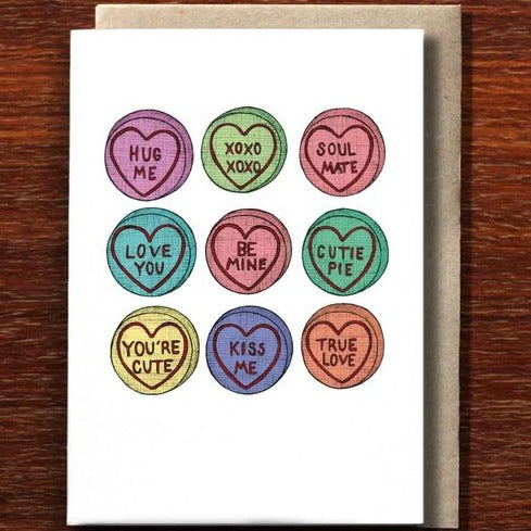 The Nonsense Maker Heart Candy - Greeting Card
