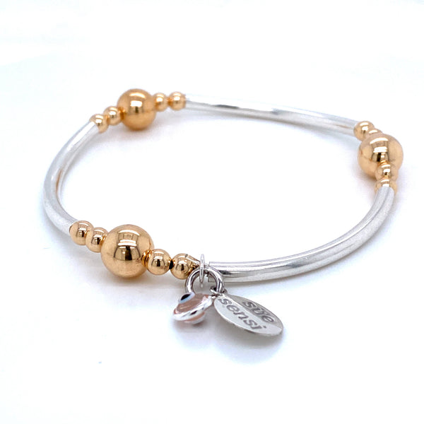 Sue Sensi Fabulous Sterling Silver and Yellow gold Bracelet