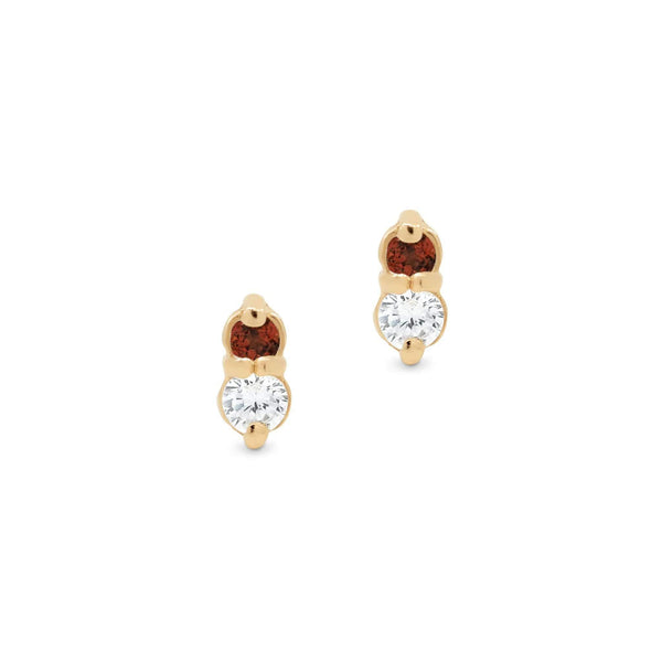 By Charlotte Fire Stud earrings