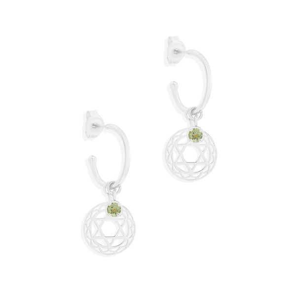 By Charlotte Silver I Am Worthy Of Love, Heart Chakra Hoops